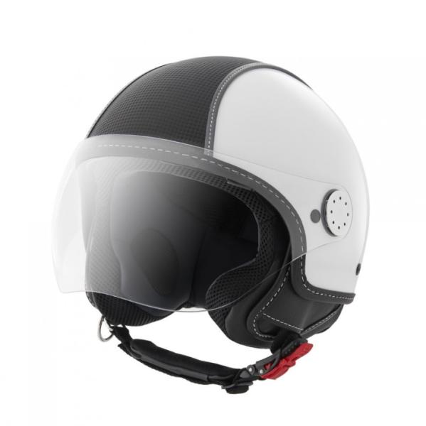 Piaggio casco Demi Jet, Carbonskin, blanco