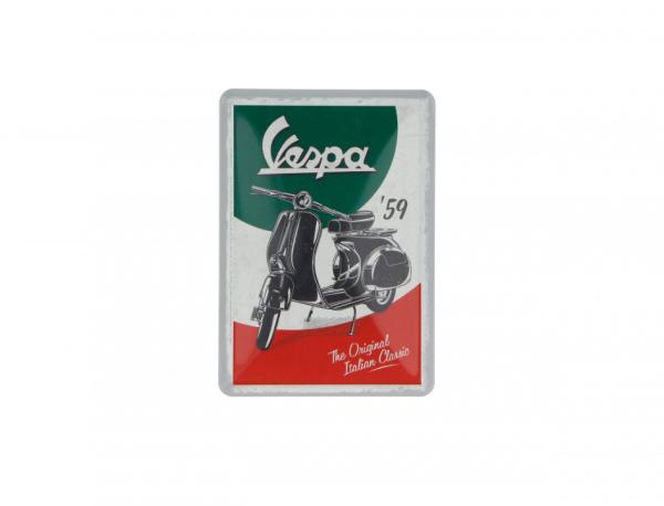 Vespa tarjeta postal de lata The Italian Classic