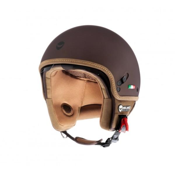 Helmo Milano Demi Jet, estilos Puro, marrón, mate