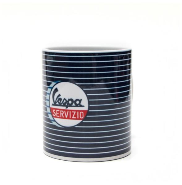 Vespa taza Servizio azul blanco