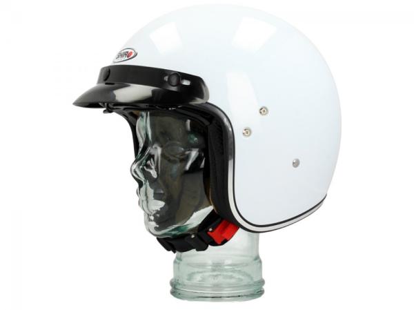 Shiro Casco Jet, SH235, Mono, blanco