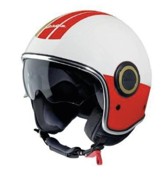 Casco Vespa open face VJ Racing 60s blanco / rojo - Sixties