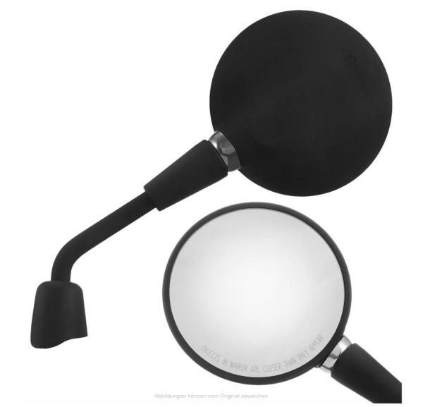 Espejo Shorty negro mate derecho e izquierdo para Vespa Primavera 50-150ccm 2T/4T / GTS HPE 50-300ccm