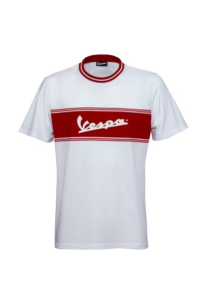 Camiseta Vespa Racing Sixties 60s blanco / rojo