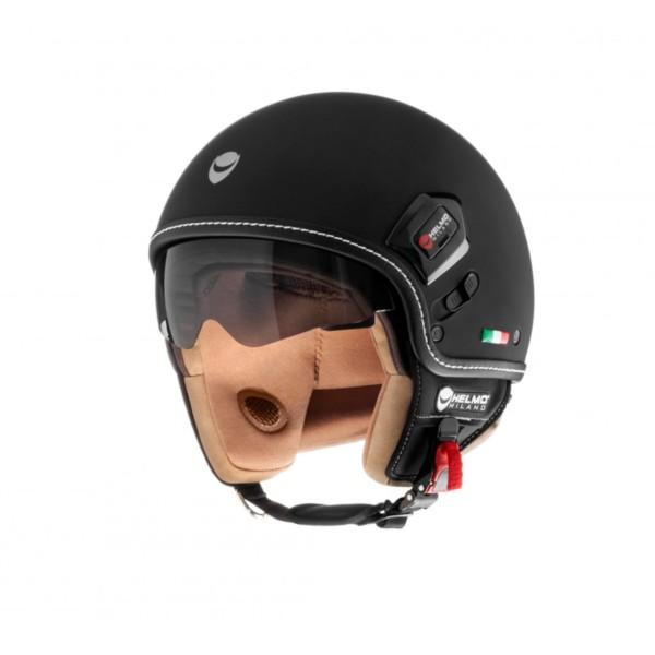 Helmo Milano Demi Jet, Puro Premium, negro mate