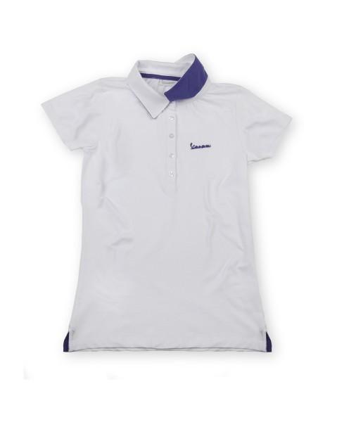"Polo Vespa ""Vespa Logo"" mujer blanco"