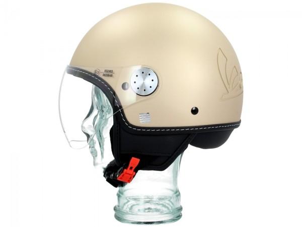 Original Helmet Demi Jet Vespa Visor 3.0 Matt Beige Unico 516/A