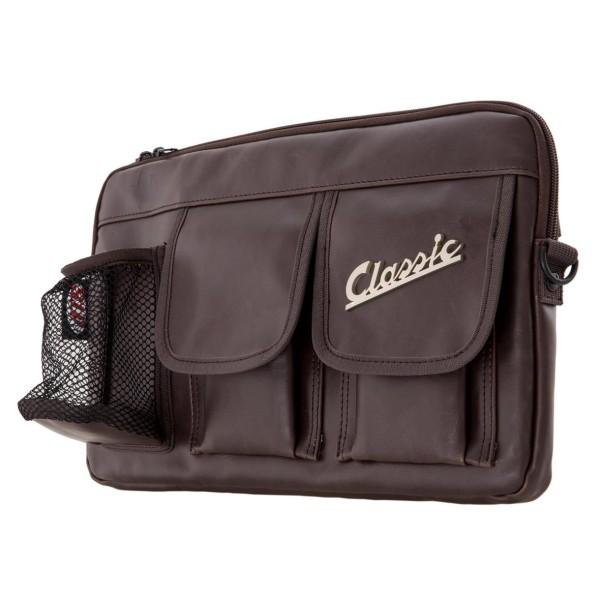 """Bolsa """"Classic"""" para maletero / guantera Vespa - marrón, cuero sintético"""