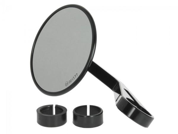 Espejo de manillar Highsider Montana para Vespa izquierda o derecha, negro