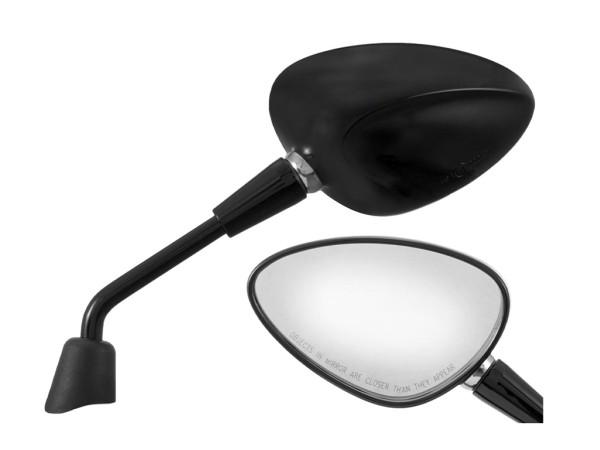 Espejo Shorty negro derecho e izquierdo para Vespa Sprint 50-150ccm 2T / 4T