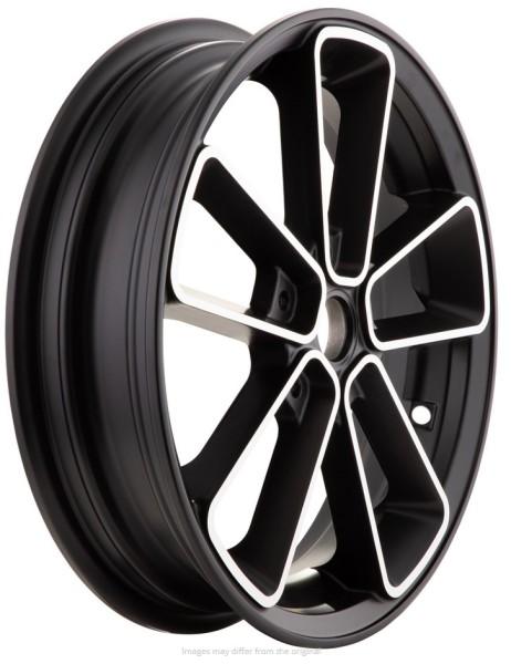 Llanta delante/atrás para Vespa GTS/GTS Super/GTV/GT 60/GT/GT L 125-300ccm, negro con borde de plata