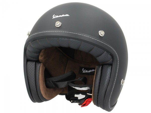 Casco Vespa P-Xential 2.0 Open Face - negro mate