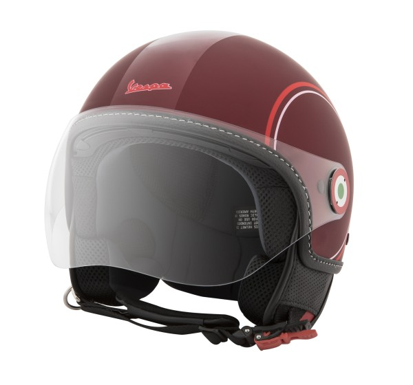 Casco Demi Jet Vespa Modernist Collection rojo mate