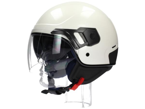 Piaggio casco PJ Jet blanco perla