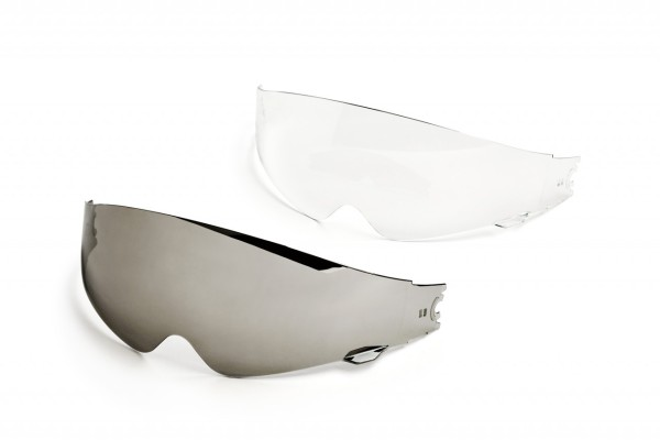 Visor interno Helmo Milano, transparente, resistente a los arañazos, todos los modelos con faja interna