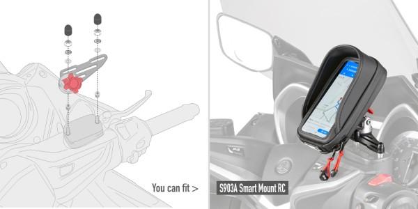 Kit de montaje para el soporte S903A para el depósito de líquido de frenos en el manillar Original Givi