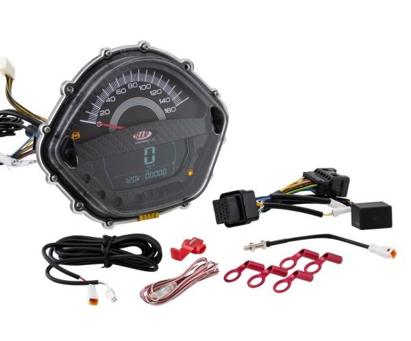 Medidor del número de revoluciones/Tacómetro para Vespa GTS 250ccm (-'13), carbón