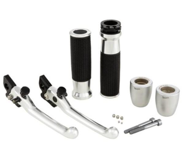 Kit de manillar, aluminio, anodizado, juego de manillas, palancas y extremos de manilla Vespa GTS 2008 - 2019