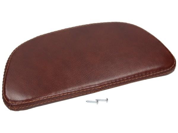 almohadilla de la espalda, marrón, cuero
