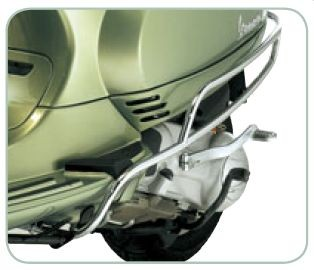Original Protector lateral trasero cromado Vespa LX / LXV