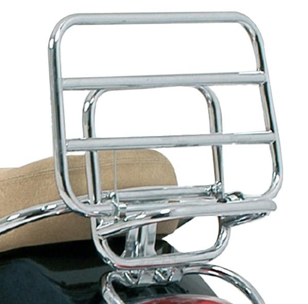 Original ortaequipaje trasero plegable cromado Vespa LX / S