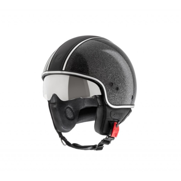 Helmo Milano Demi Jet, Puro Styles Limited, negro brillante, brillo