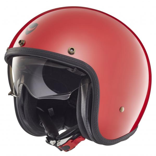 Helmo Milano casco jet, Audace, rojo