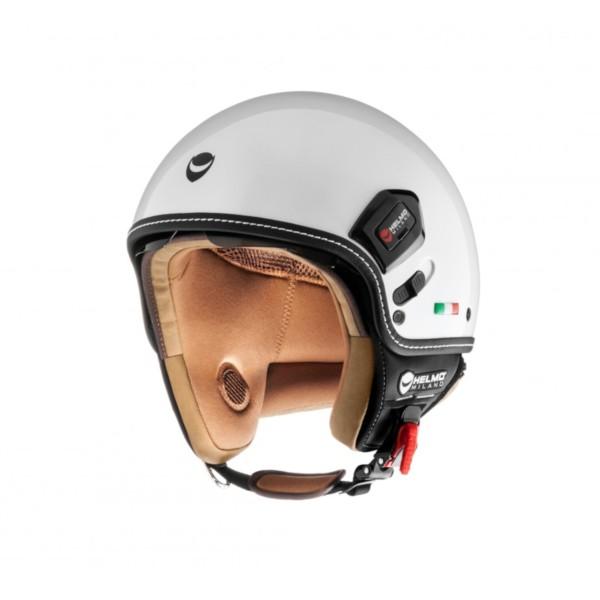 Helmo Milano Demi Jet, Puro Premium, blanco, brillante