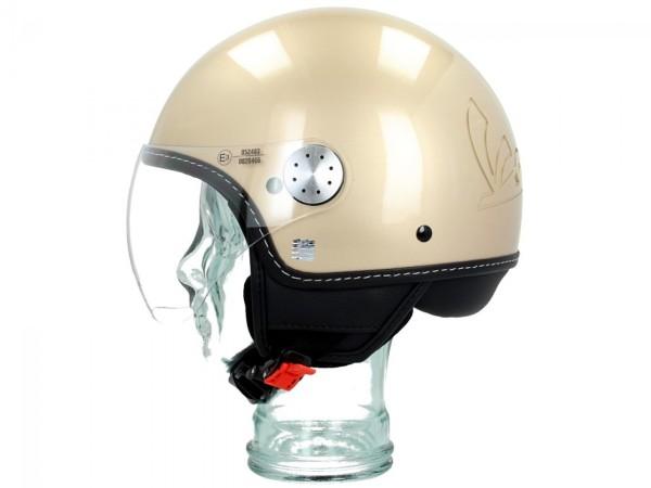 Original Helmet Demi Jet Vespa Visor 3.0 Unico Beige 513/A