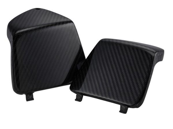 Cubierta del guantera izquierda/derecha para Vespa GTS/GTS Super/GTV/GT 125-300ccm, carbón