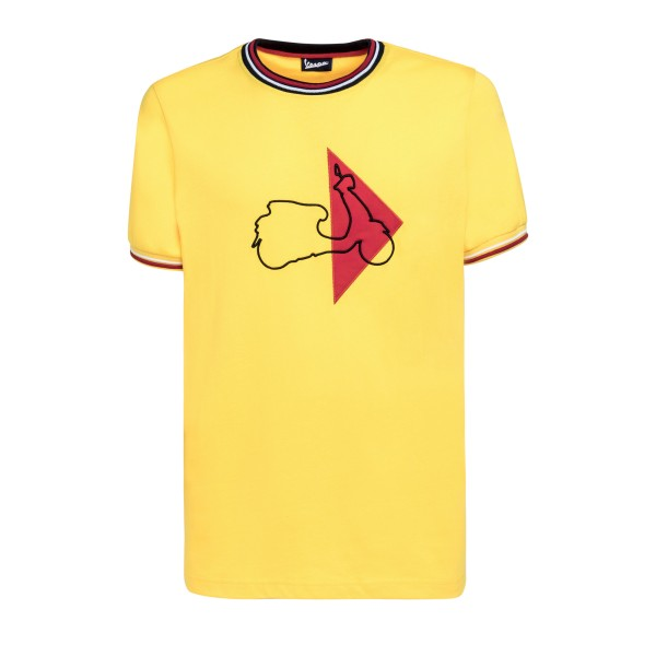 Vespa T-Shirt Modernist hombre amarillo