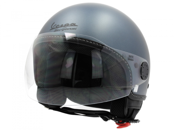 """Vespa Jet Helmet Visor 3.0 - """"Sei Giorni - 6 días"""" Edición limitada gris"""