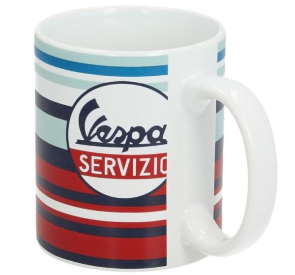 Vespa taza Servizio rojo azul