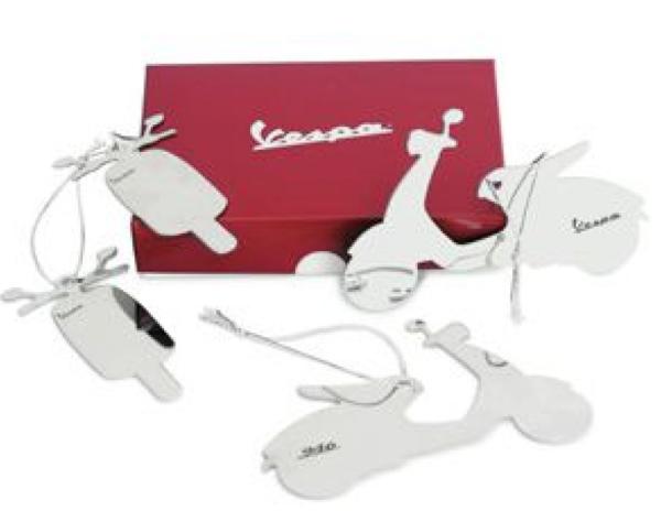 Vespa decoraciones de árbol de Navidad, blanco